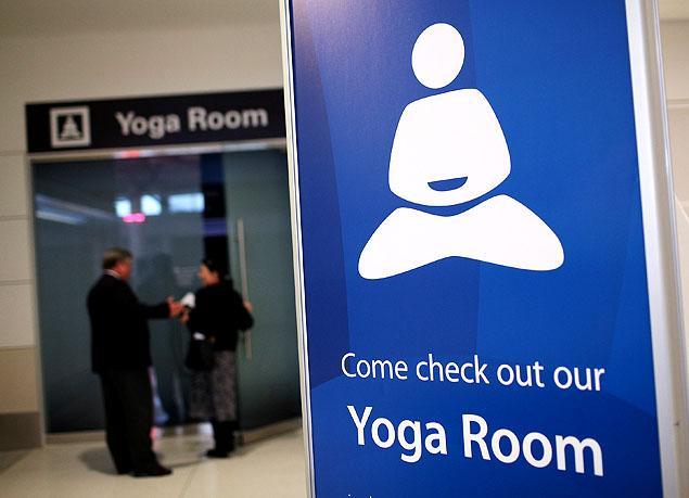 San Francisco International Airport - yoga room. Image courtesy of tradeshowlifestyles.com
