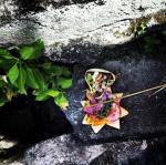 Leaf and flower offering basket 2