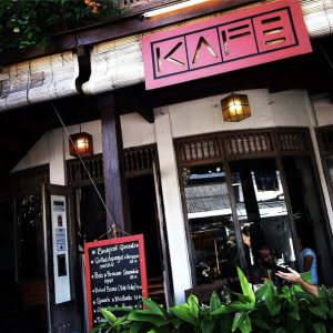 Kafe, on Hanoman St.