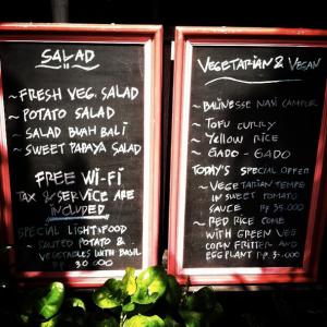 Veggie Table menu