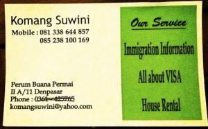 Komang Suwini - visa agent